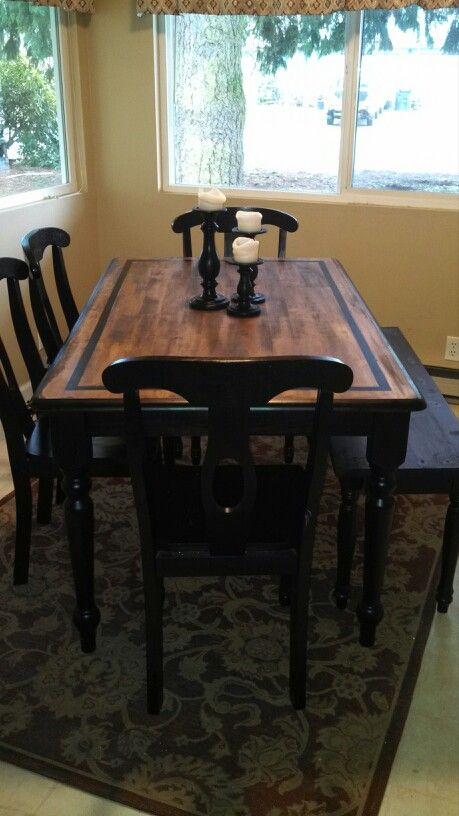 My country kitchen table redo - Kitchen table redo ...