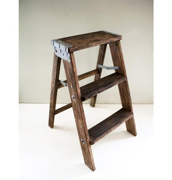 Vintage Wooden Short Ladder Wooden It Be Nice Pinterest