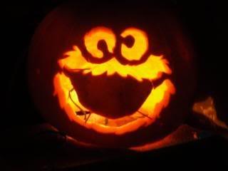 Cookie monster pumpkin c is for cookie pinterest for Monster pumpkin carving patterns
