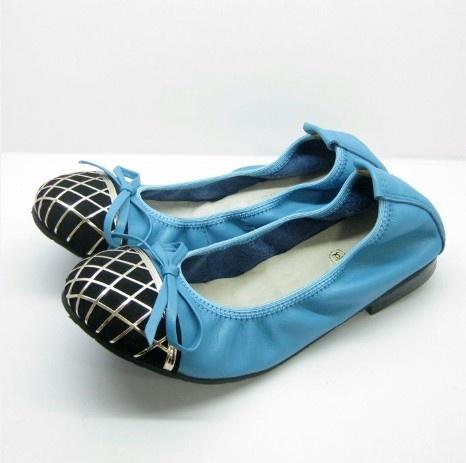 Chanel Flat Shoes Blue
