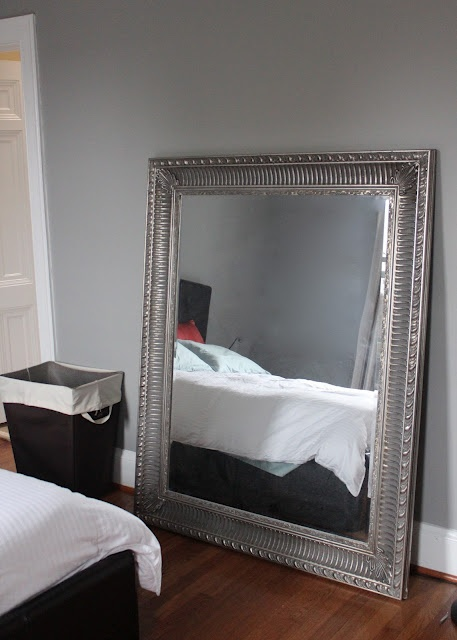 Gray Bedroom Large Mirror For The Home Pinterest