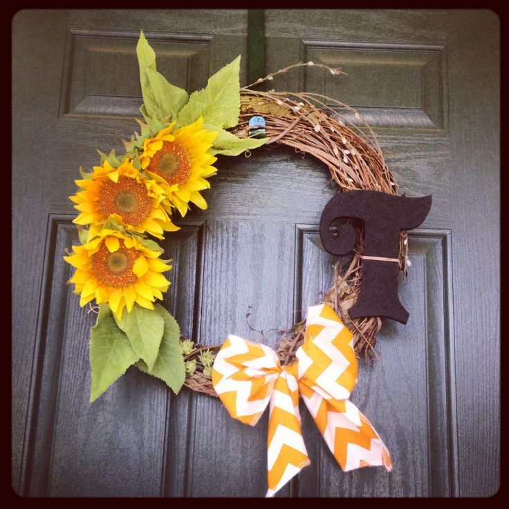 Fall Wreath For Front Door For The Home Pinterest