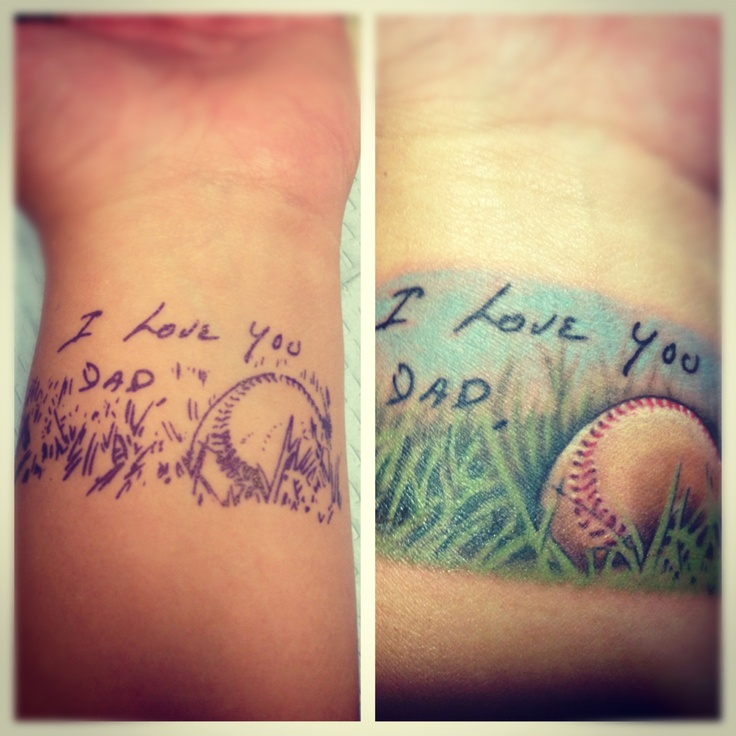Memorial tattoos dad picture tattoo for Memorial tattoo for dad