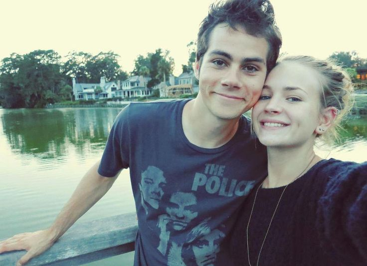 Dylan O'Brien with Girlfriend