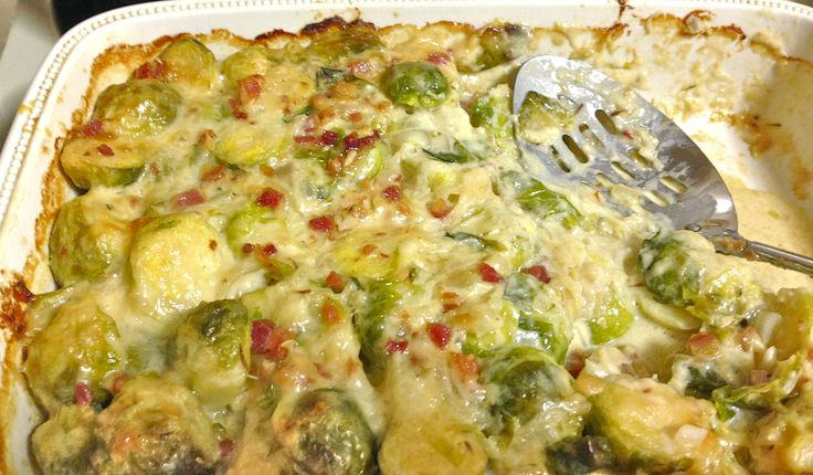 Cheesy Brussels Sprouts Gratin | Steves | Pinterest