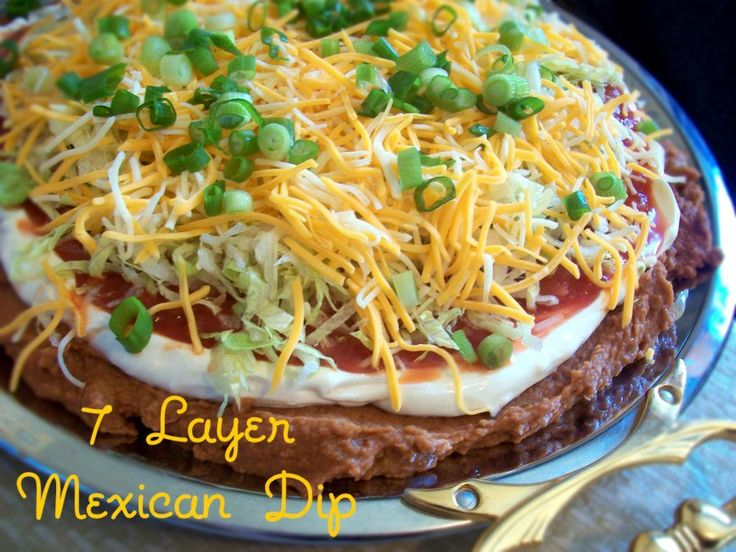 Layer Mexican Dip | Apps & Snacks | Pinterest