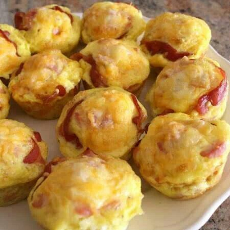Ham and cheese biscuit cups | appetizers | Pinterest