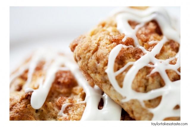 cinnamon roll scones | Desserts! | Pinterest
