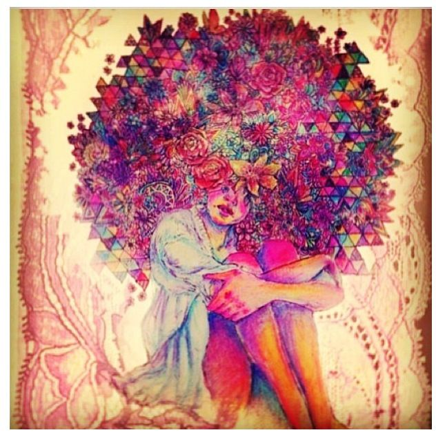 Natural Hair Art The Mighty Afro Pinterest