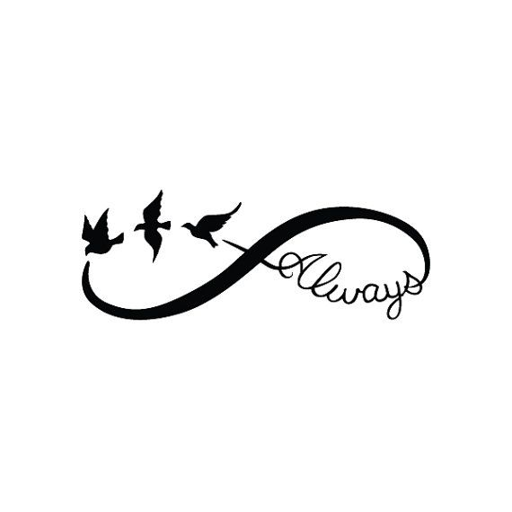 Infinity Always Temporary Tattoo Set of 2 by Tattify on Etsy