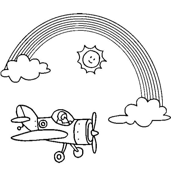 f rainbow coloring pages - photo#22