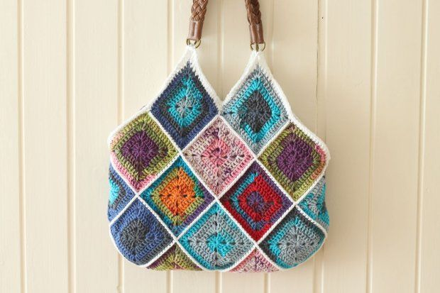 Crochet Back Bag : scheepjes_squares_bag_back #crochet bag Crochet Pinterest