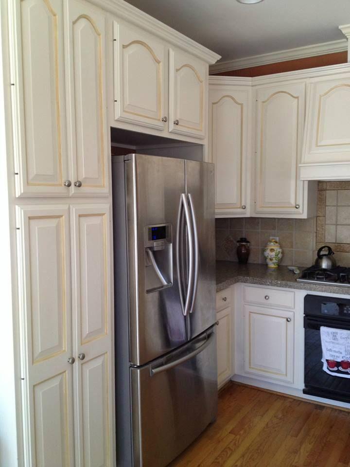 Raleigh kitchen cabinet refinish, March 2013