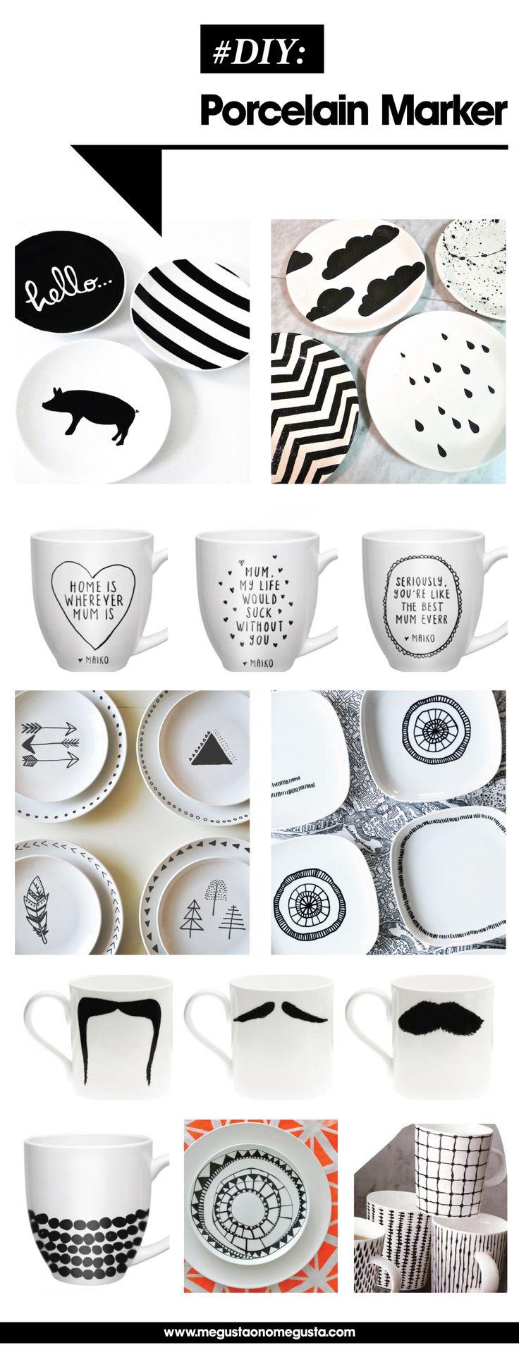 Porcelain markers for everything! DIY porcelain marker inspo - megustaonomegusta blog