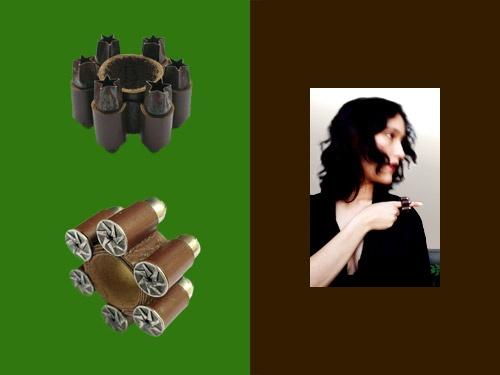 Sophie Hanagarth - Mises à l'index, bagues, cuir, fer-blanc, 2001-