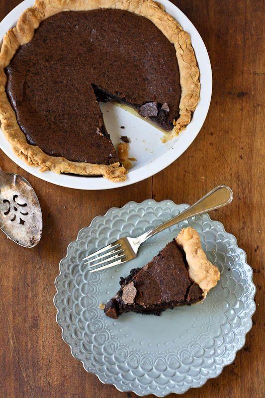 simple chocolate chess pie | Desserts | Pinterest