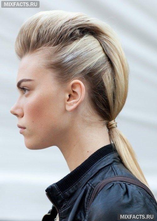 Как сделать хвост с начесом на средние волосы