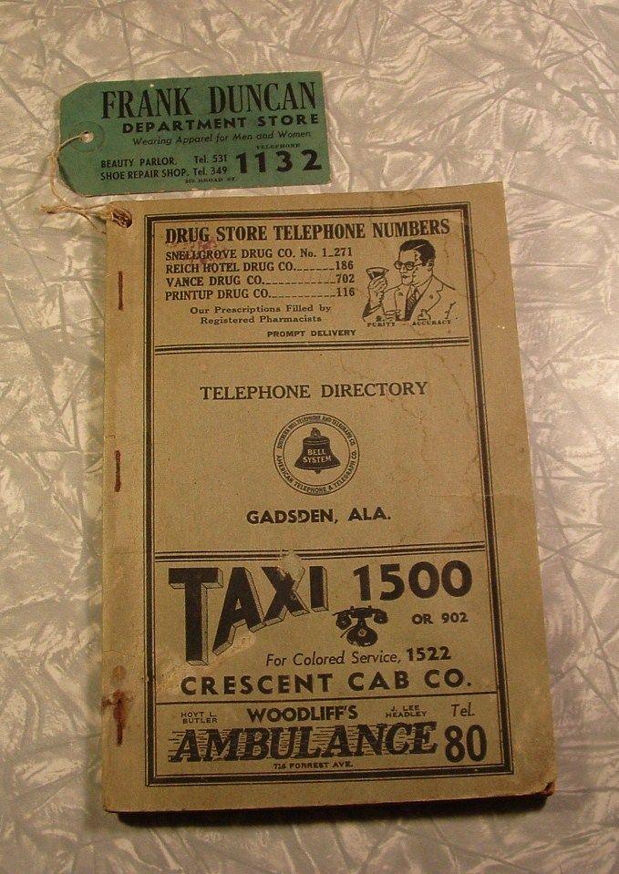 Vintage Telephone Book 37