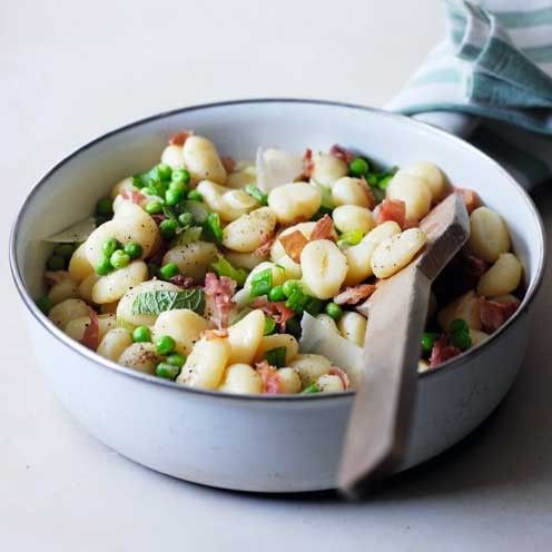 Gnocchi with Parma Ham, Peas and Mint
