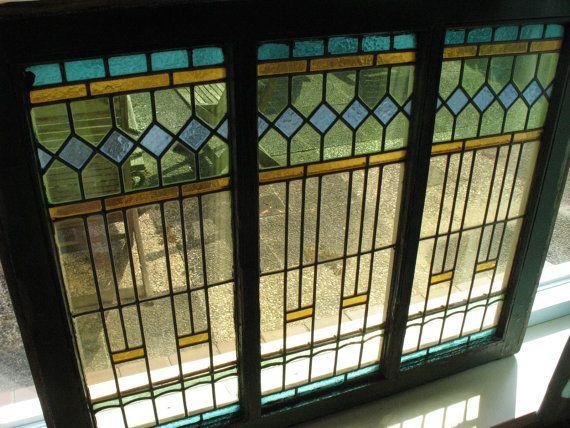 Art deco stained glass windows 13x for Art deco glass windows