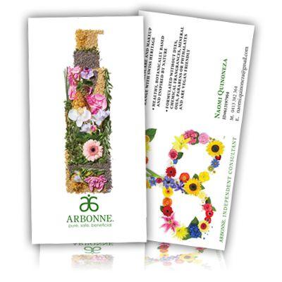 arbonne cards ARBONNE