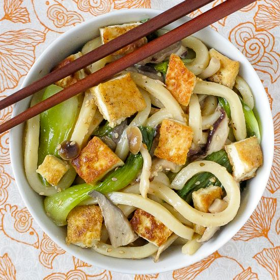 More like this: noodles and tofu .