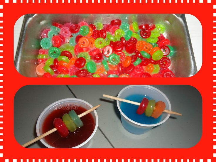 ... ice, take a skewer with three tequila soaked gummies and Wa-LA
