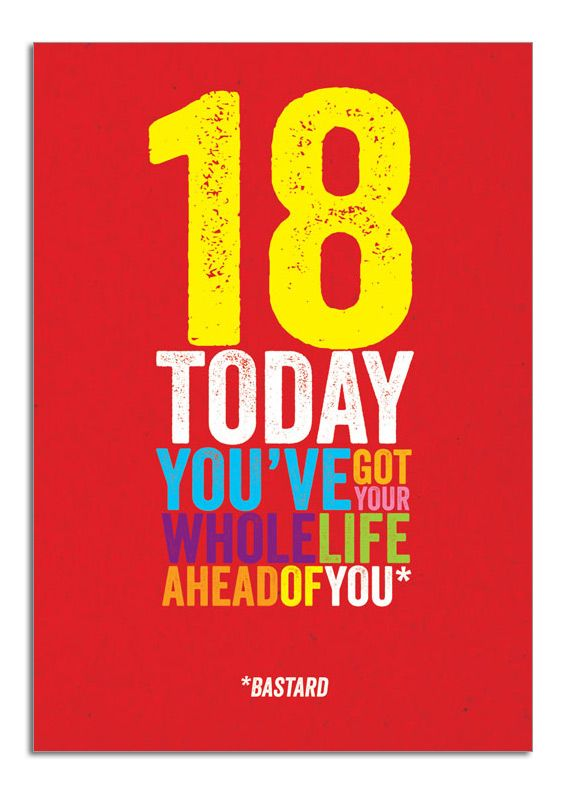 18. 18th birthday card. You've got your whole life ahead of you. www ...