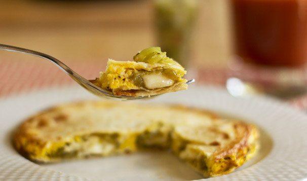 Use GF corn tortillas! A tortilla sandwich with scrambled egg and ...