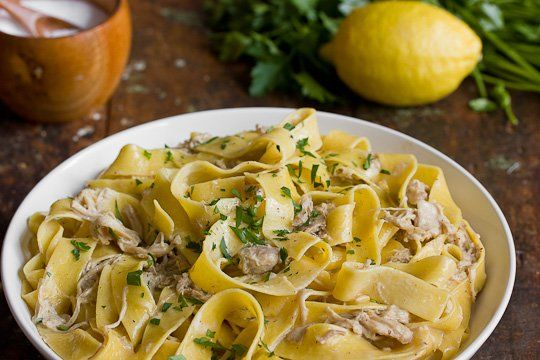Pasta Recipe: Creamy Braised Chicken with Pappardelle — Recipes from ...