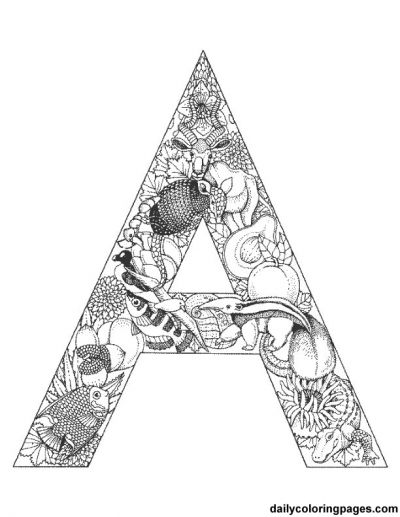 Alphabet Coloring Pages Advanced : A animal alphabet letters to print artsy pinterest