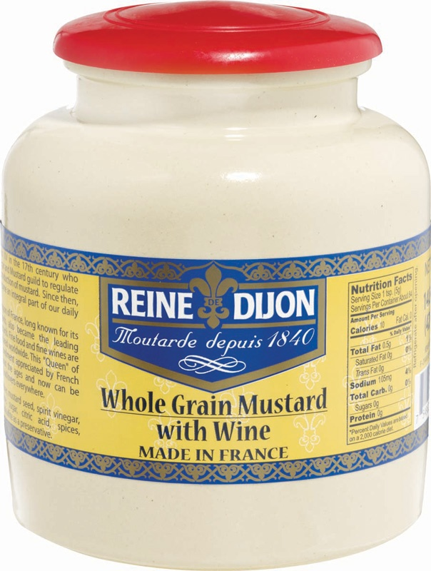 Reine Dijon Whole Grain Mustard Crocks from Gourmet International www ...