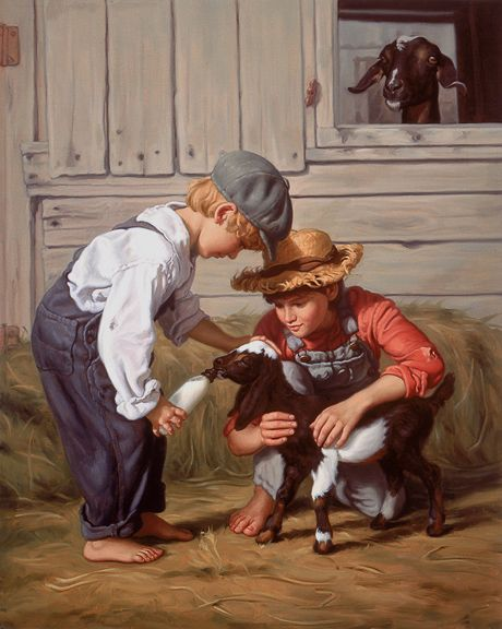 Mark Arian Paintings - lovely #goatvet