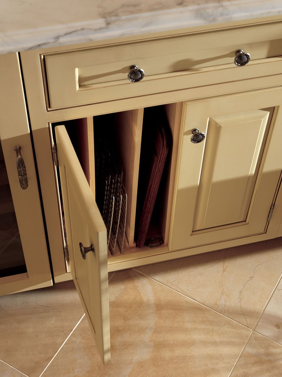 Kitchen base cabinet with tray dividers kitchens pinterest - Vertical tray dividers kitchen cabinets ...