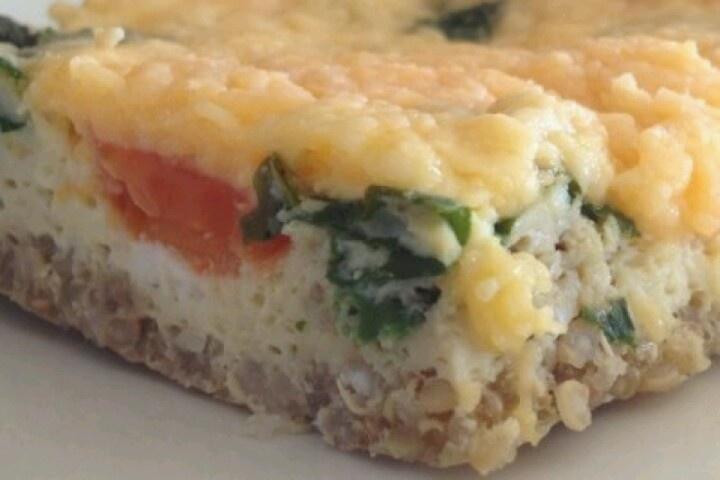 Breakfast- Quinoa egg bake | Breakfast Ideas | Pinterest