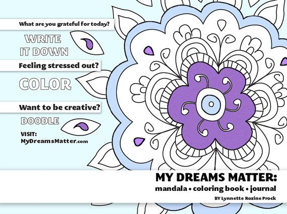 The Affirmations Coloring Book : Illustrated pdf of my dreams matter mandala coloring book