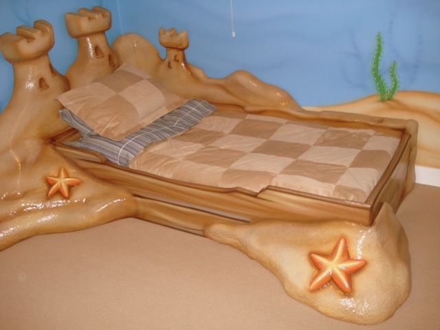 3d custom underwater sandcastle kids bed kids first themed bed