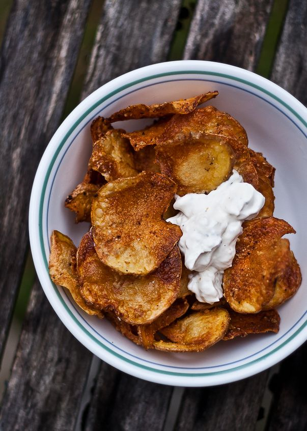 Homemade Parmesan Potato Chips | Appetizers and Sides | Pinterest