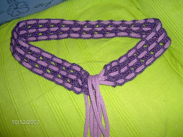 cintura all'uncinetto e tricotin by bernardivaleria, via Flickr