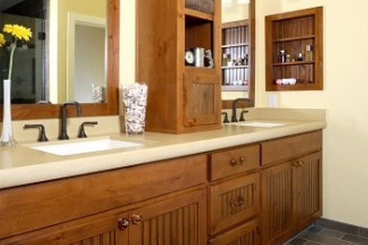 Craftsman Style Bathroom Cabinets Sandy Bay House