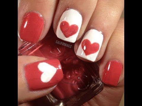 valentine nail designs easy