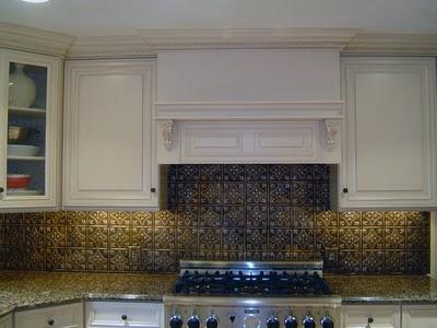 pressed tin kitchen backsplash dream home pinterest