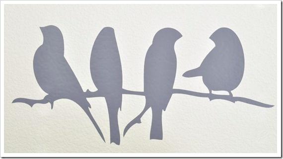 Birds Wire Wall Decor : Bird on a wire vinyl decor flockfolie idee?n