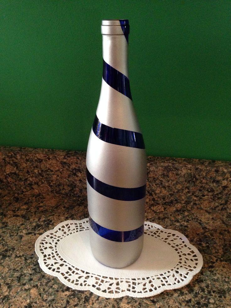 Blue wine bottle craft craft ideas pinterest - Craft ideas with wine bottles ...