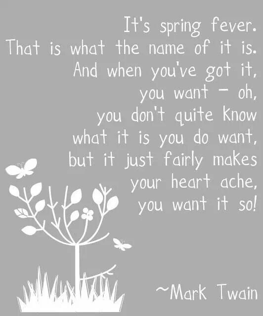 Spring Fever by Mark Twain  Jokes/Quotes/Poems  Pinterest