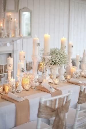 Decorar la mesa de Navidad en blanco | Estilo Escandinavo