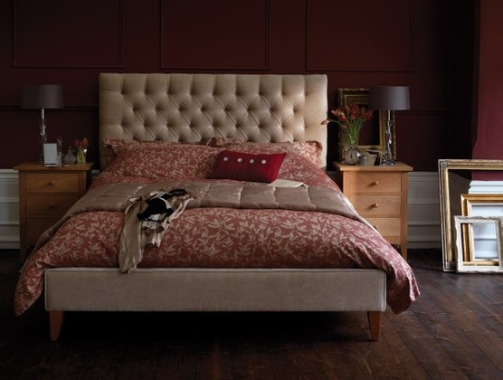 Burgundy Walls Beige Headboard Lovely Bedspread Also Like The Dark
