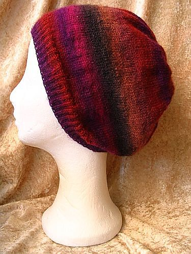 Slouch Socks Knitting Pattern : sock yarn slouch hat. free pattern. crafts Pinterest