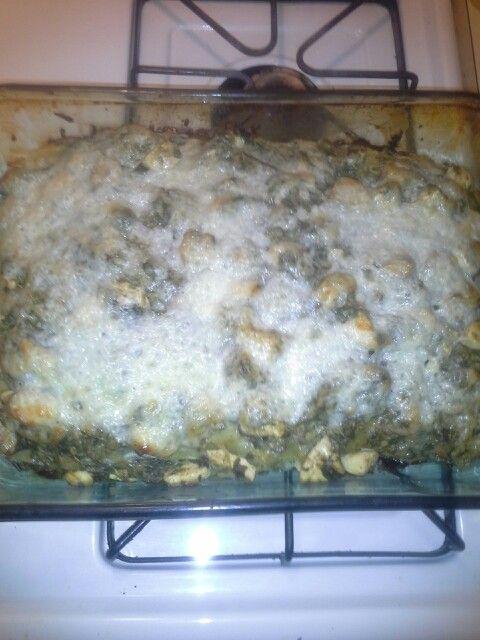 Chicken spinach mushroom alfredo lasagne | Recipes to try | Pinterest
