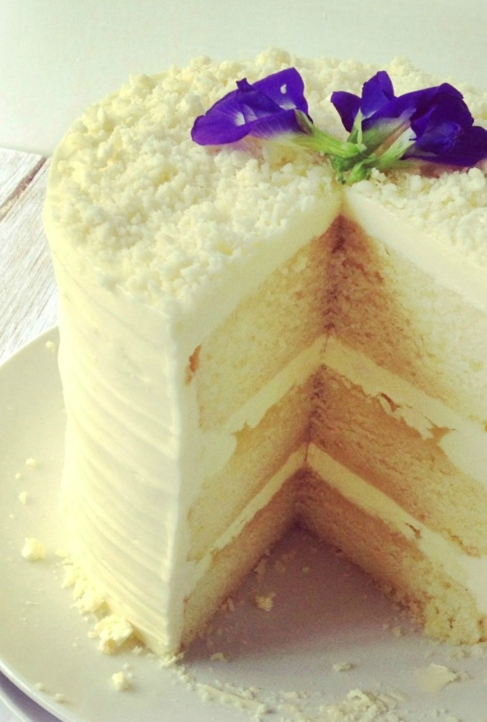 The Food Dash: lemon layer cake with white chocolate frosting
